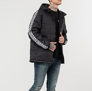 Vans Mens Black Checkeredboard Hooded Jacket